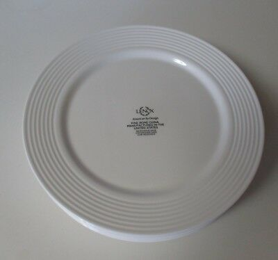 Lenox Tin Can Alley Seven 8 Dinner Plates NWT Made in USA  (Tin Dinner Plates)
