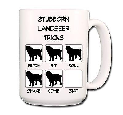 LANDSEER Stubborn Tricks EXTRA LARGE 15oz COFFEE MUG