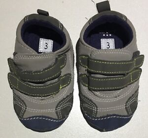 Grey and Blue Infant Size 3 Soft Sole Shoes Great Condition Bentleigh East Glen Eira Area Preview