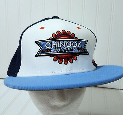 88c7fe35 Nike Chinook Seedery Baseball Cap Flat Hat Fitted Size M/L True Dri-Fit