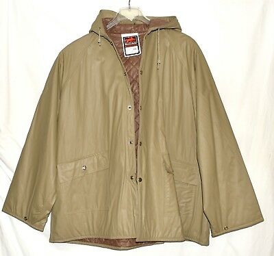 Hooded Stadium Jacket - Rainfair Wilderness Gear Beige Insulated Mens Hooded Stadium Jacket Size XXL