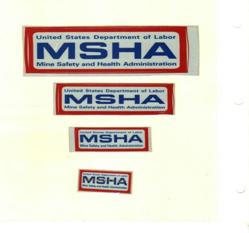 NICE SET OF 4 OLD MSHA-MINE SAFETY & HEALTH  COAL MINING STICKERS # 41