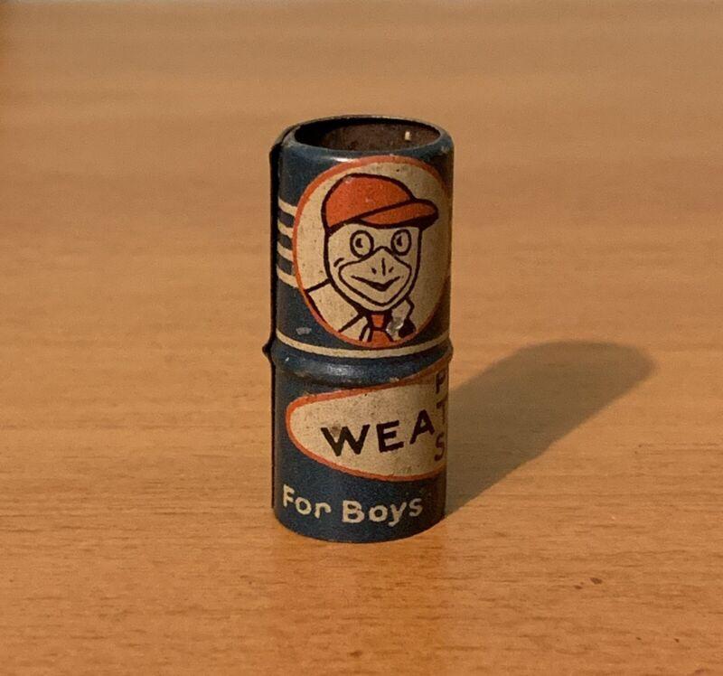 Peters Weatherbird Shoes Tin Advertising Whistle Toy Premium