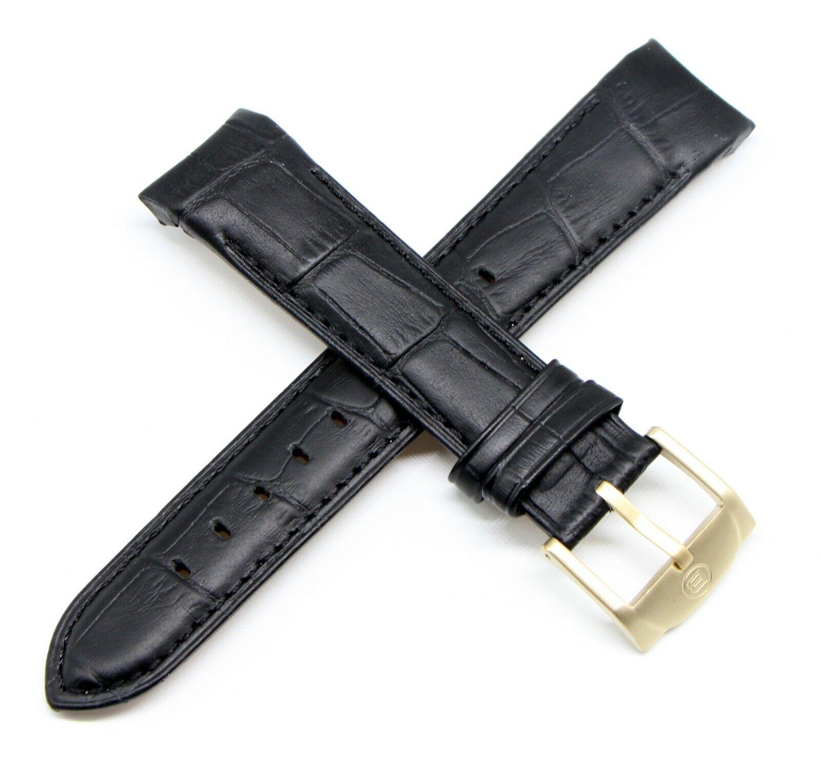 Ben & Sons Uhrenband 22MM Alligator Optik Schwarz Voyager