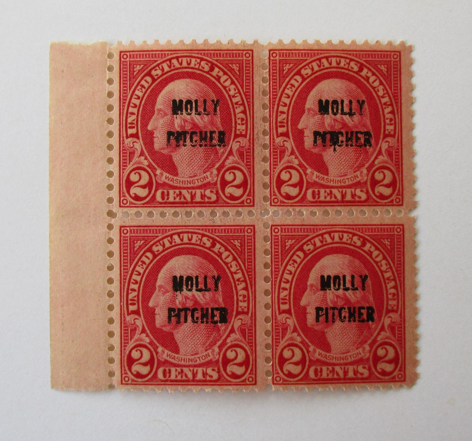 LMA US Stamps, MNH. 2c Overprinted, Block 4, 646. OG. CV 52.50.  - $6.26