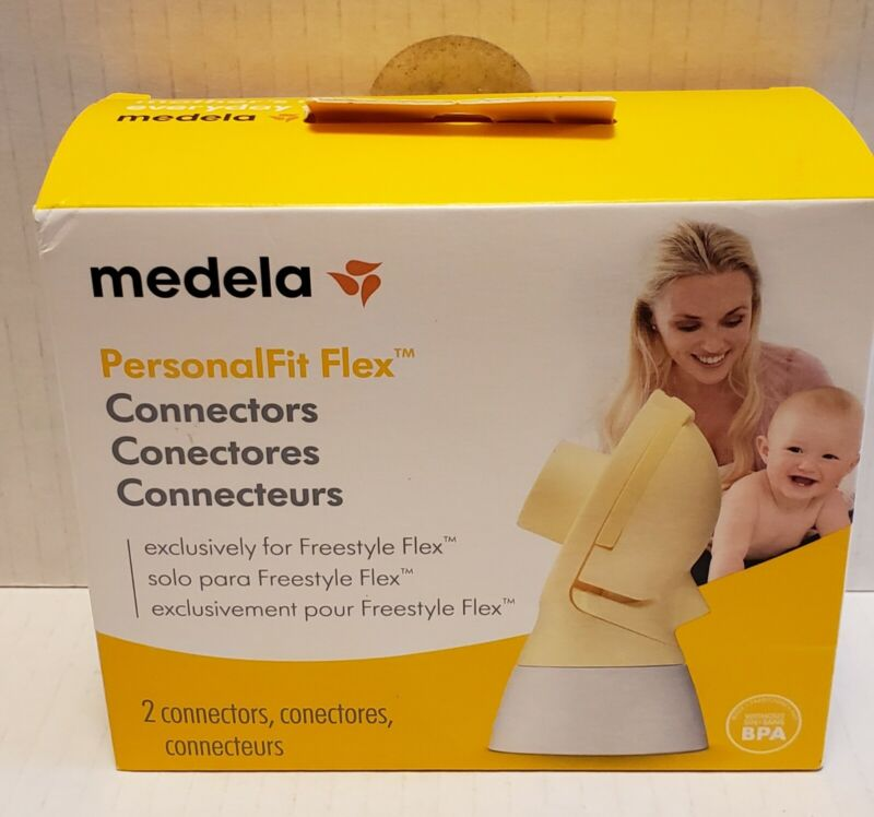 Medela PersonalFit Flex Connectors (2) - For Freestyle Flex*Sealed Bag, Open Box