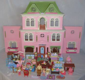 FISHER PRICE LOVING FAMILY GRAND DOLL HOUSE LARGE SET MANY EXTRAS Inala Brisbane South West Preview