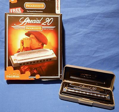 NEW SPECIAL 20 HOHNER HARMONICA KEY OF  Bb  B flat  damaged box