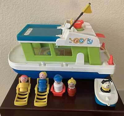 Fisher Price Little People Happy House Boat 1972 #985