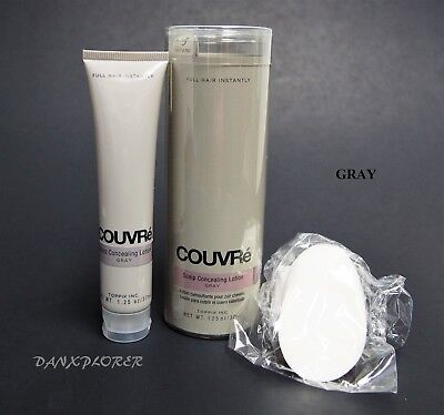 - COUVRE ALOPECIA SCALP CONCEALING LOTION, GRAY 37ml or 1.25oz !!! NEW FRESH