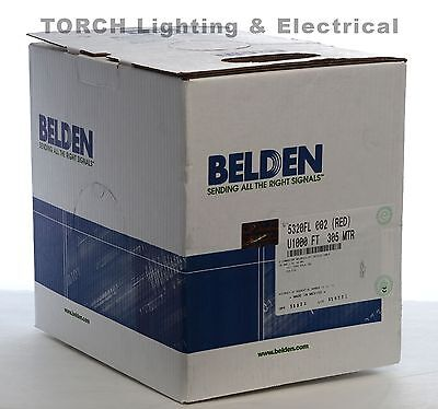 New 1000 Feet Belden 5320fl 182 Fplr Power Limited Fire Alarm Red Cable Wire