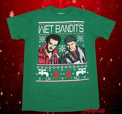 New Home Alone Wet Bandits Christmas Ugly Sweater Vintage Mens - Wet Tshirts
