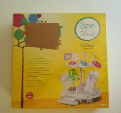 The First Years Spin Stack Bottle Drying Rack White