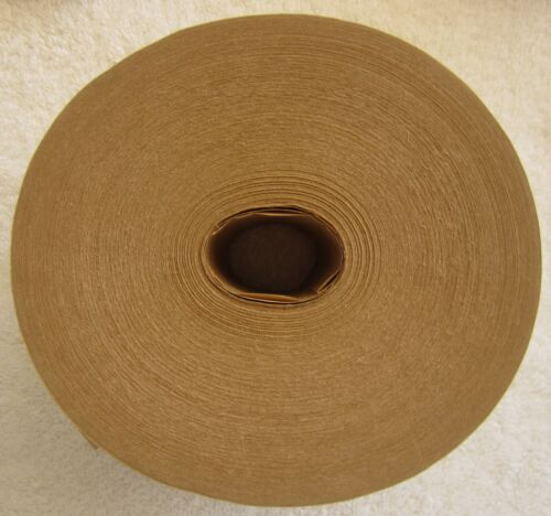 """Reinforced, water activated Kraft tape, heavy duty, 3"""" x 450"""