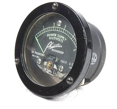 Phaostron Ruggedized Itt 2.5 Panel Mount 5kv Ac Power Supply 3kv Dc Voltmeter