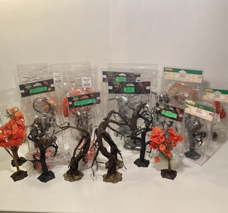 Lemax Spooky Town Trees ~ HUGE LOT OF 29 ~ Rare Retired ~ $3.45 ea! ~ Halloween