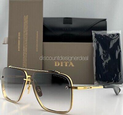 DITA MACH SIX Sunglasses DTS121-01 Yellow Gold Gray Gradient Lens 62mm Brand (Sunglass Brands)