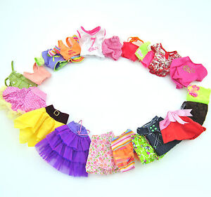 20 Items = Lots 10 Handmade Summer Dresses & Clothes 10 Shoes For Barbie Doll