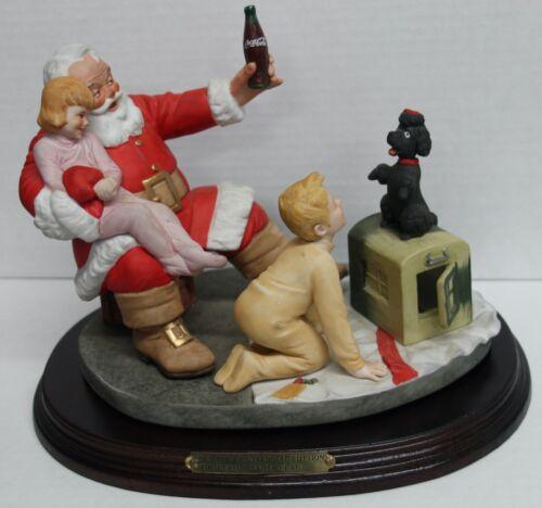 "Coca-Cola ""The Classic Santa Claus"" Fourth Annual Christmas 1986 Figurine COKE"