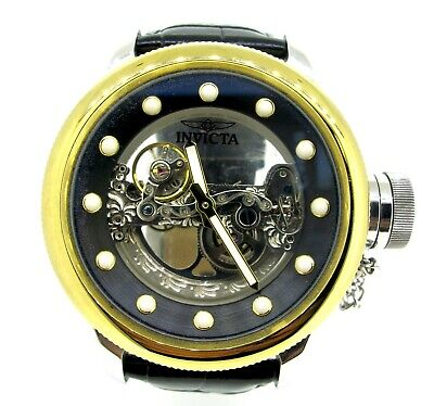 Invicta Russian Diver Ghost Bridge Automatic 18k Gold Plated Watch 52 mm