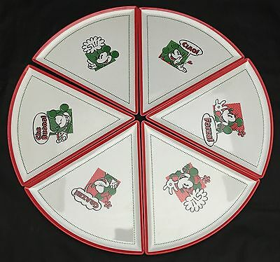 Walt Disney Parks Melamine Triangle Pizza Serving Plates Mickey Minnie Mouse