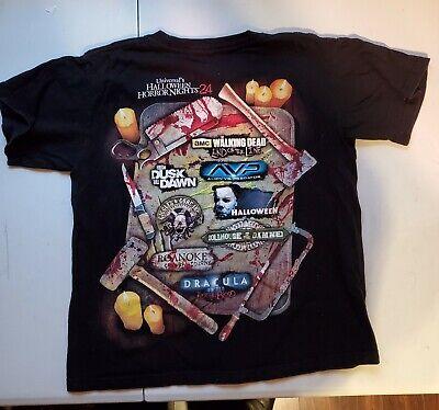 Halloween Horror Nights 24 Black T-Shirt (Size - Halloween Horror Nights 24 T Shirts
