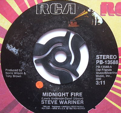 """STEVE WARINER - Midnight Fire - Excellent Condition 7"""" Single RCA PB-13588"""