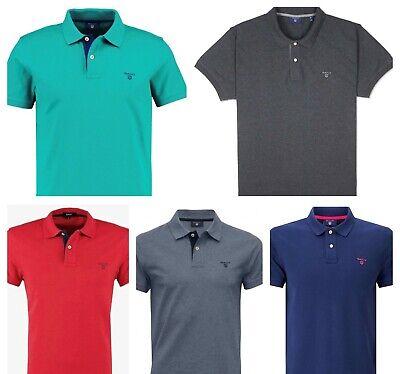 GANT Mens' Contrast Collar Pique SS Rugger Polo Shirt, Cotton, Short (Contrast Collar Cotton T-shirt)