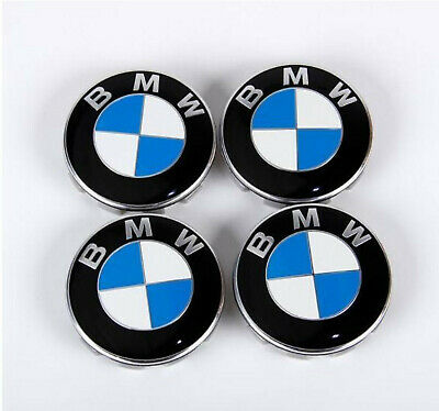 4x BMW Nabendeckel Radnaben Abdeckung Blau/Weiß 68mm 6783536 NEU NEU online kaufen