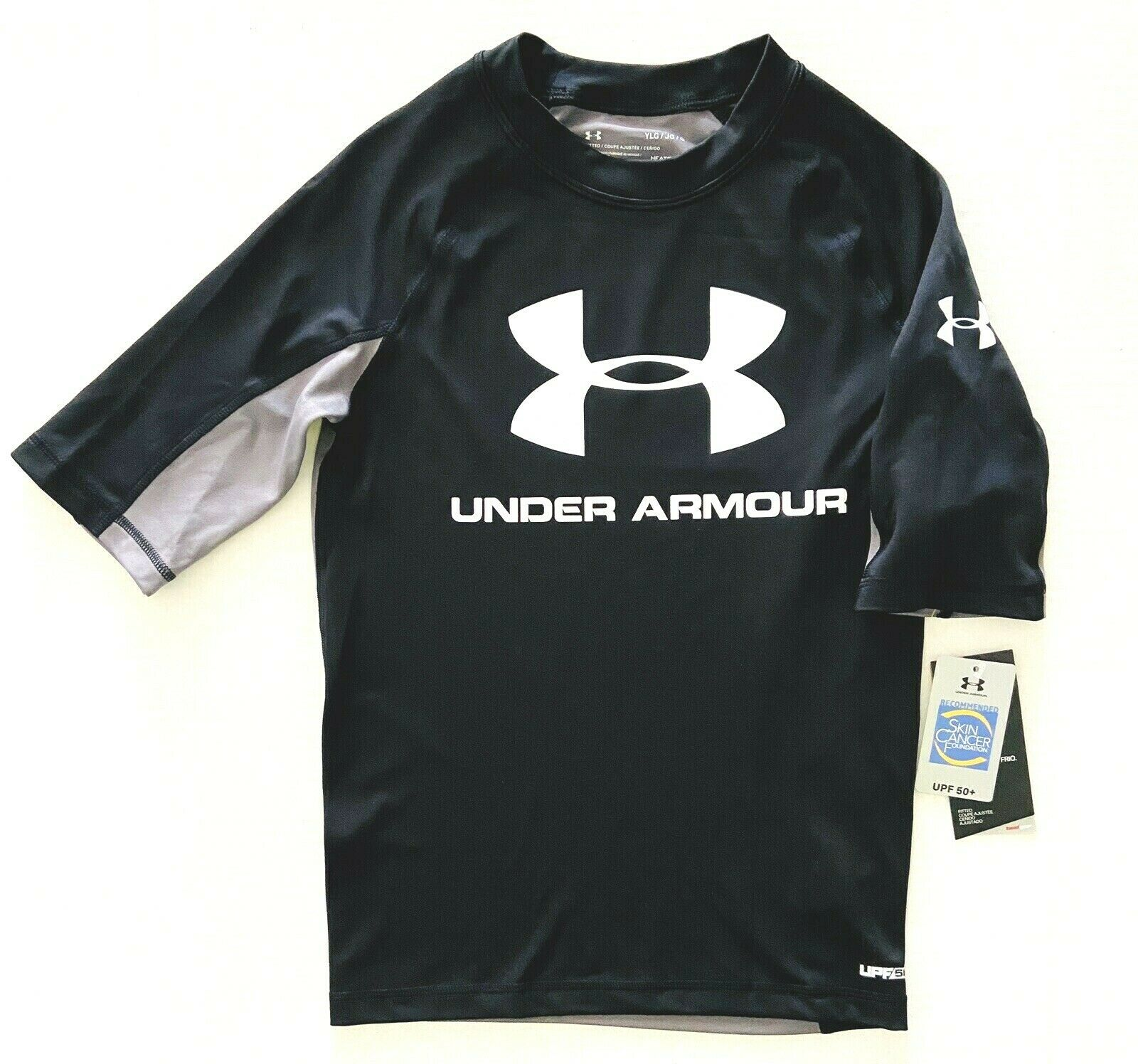boys youth black long sleeve fitted dri