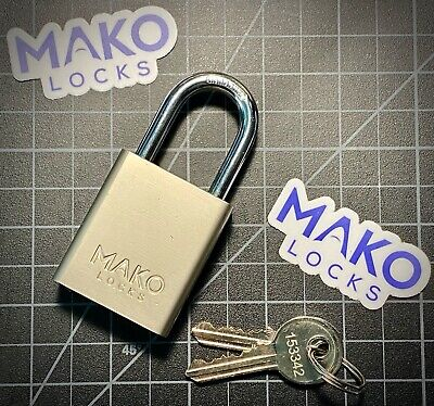 Mako 427 Lockout Tagout Nickle Plated Rekeyable Brass Padlock Locksport