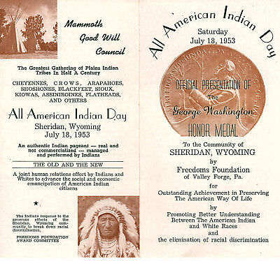 All American Indian Day Pageant Sheridan Wy 1953 Pamphlet Plains Indian Tribes