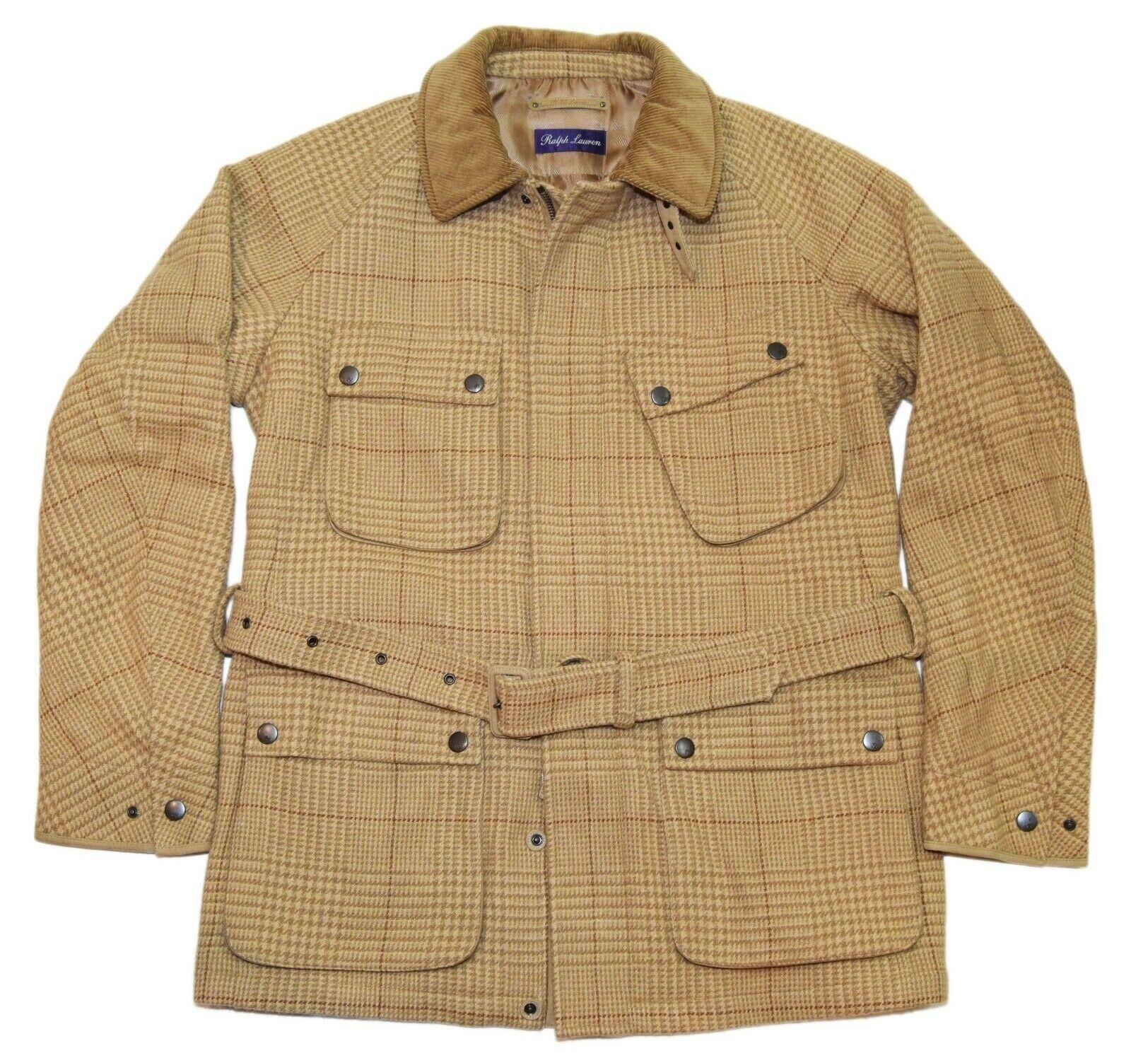 3295-ralph-lauren-purple-label-mens-wool-jacket-plaid-coat-brown-beige-large