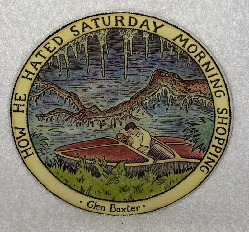 GLEN BAXTER CARTOONIST PLATE HOW HE HATED SATURDAY MORNING SHOPPING