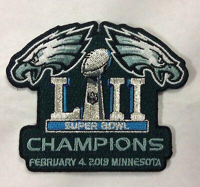 Super Bowl 52 Champions Philadelphia Eagles Iron On Patch