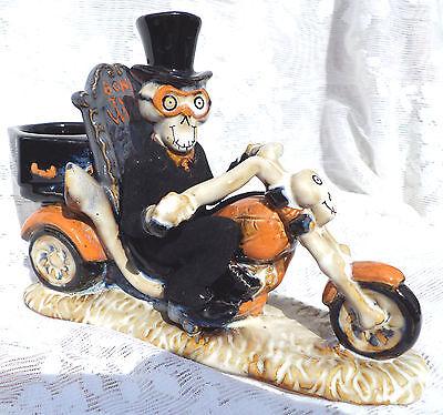 YANKEE CANDLE Boney Bunch MOTORCYCLE Tea Light HOLDER Brand NEW