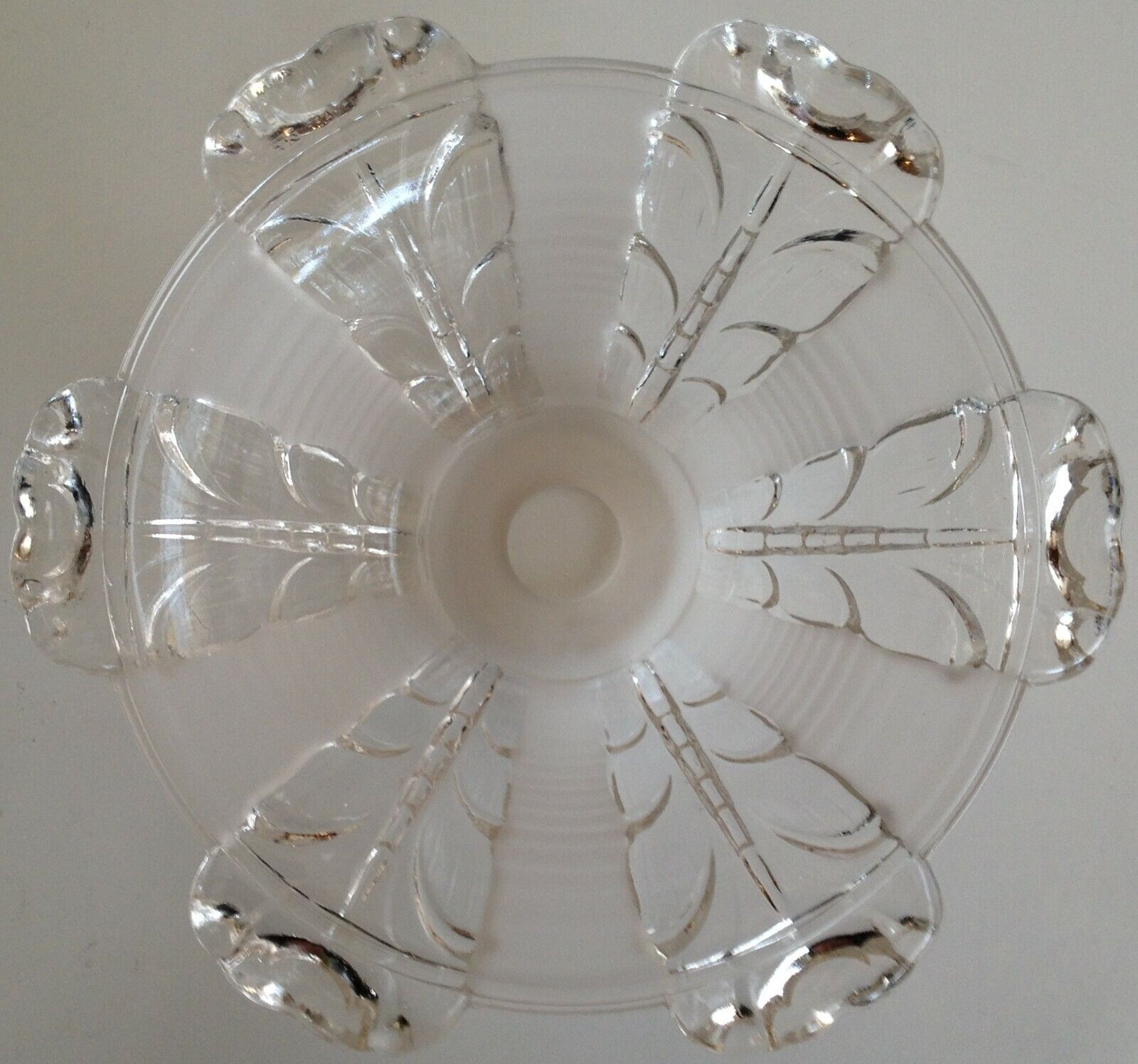 Luminaire abat jour en verre vintage ezan 54-60 22x8 cm
