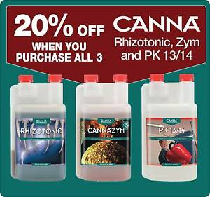 Hydroponics Canna Rhizotonic, Cannazym and Canna PK 13/14 Canning Vale Canning Area Preview