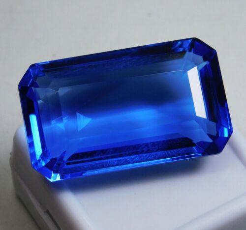 45.60 Ct Natural Emerald Cut Ocean Blue Aquamarine Loose Gemstone