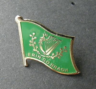 IRISH IRELAND ERIN GO BRAGH FLAG LAPEL PIN BADGE 3/4 INCH