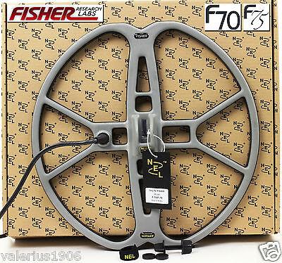 """New NEL ATTACK 15""""x15"""" DD search coil for Fisher F70/F75 + coil cover + fix bolt"""