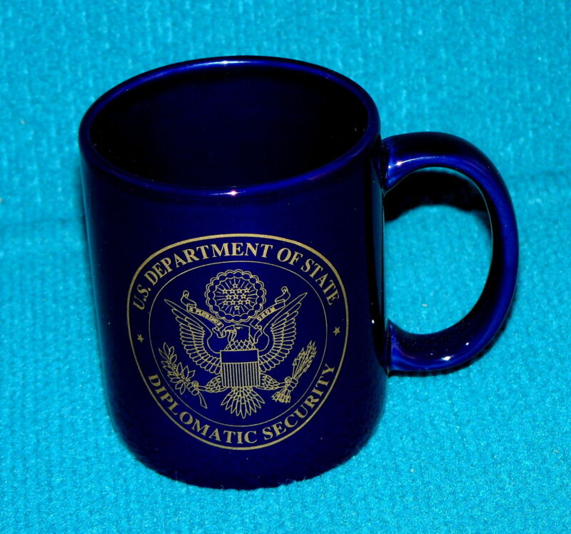 Rare! DIPLOMATIC SECURITY for U.S. DEPARTMENT of STATE : Coffee Mug @ 13 HOURS