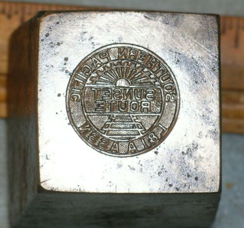 Antique SOUTHERN PACIFIC RR Sunshine Route L&I A ASSN Stamping Die MC LILLEY