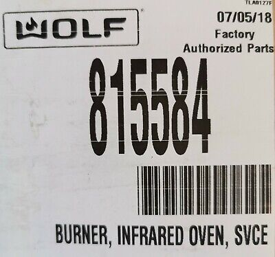 815584 Wolf Burner Infrared - Oven Svce Pro Series