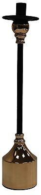 40cm Alto Individual Candelero Negro y Dorado Pabilo de Vela