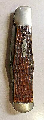 VINTAGE 1920-40 CASE TESTED XX C61050SAB COKE BOTTLE FOLDING HUNTER KNIFE