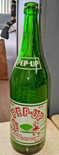 Pep-Up Soda Bottle, Rare Misprinted Label 1 Pint, 8 oz, 24 oz Cleveland, Ohio