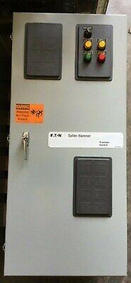 Cutler Hammer 225 Amp Automatic Transfer Switch 480 Vac 3 Pole Ntvekda30225x8u