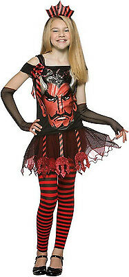 Faces Devil Child Halloween Costume Girls Size 7-10 - Halloween Girl Faces