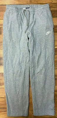 Vintage NIKE Jogging Pants Men's Medium Gray Thick Cotton Sewn Logo Blue Tag GUC